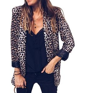 LEONA Leopard Print Blazer